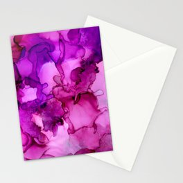 Mauve it or lose it- Abstract Painting Stationery Cards