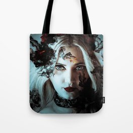 Darkness befalls me and fire and ashes surrounds me Tote Bag