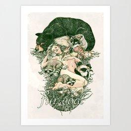 Fur Coat Art Print