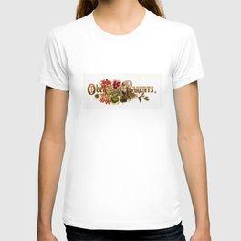 Obey Your Parents Antique Prangs Floral Mottoes T-shirt