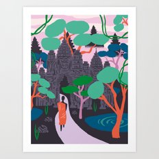 Angkor Wat Temples, Cambodia Art Print