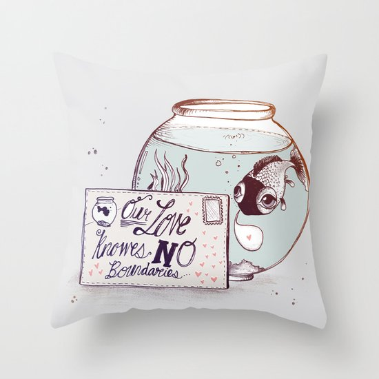 No Boundaries Throw Pillow