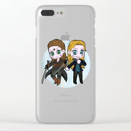 Power Couple Clear iPhone Case