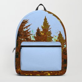 DECORATIVE BROWN-OCHER COLORED FOREST Backpack