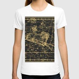 Aries Constellation, Astronomy, Astrology, Zodiac, Horoscope, Vintage Engraving Art Map T-shirt