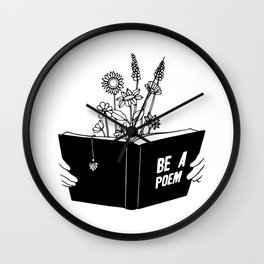 Be a Poem Wall Clock