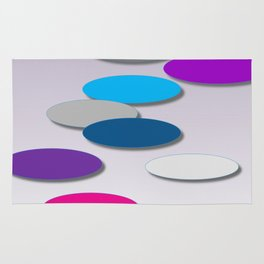 Cool Colors - Large Ovals - Digial Design - Pretty Colors Rug