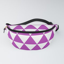 Triangles (Purple & White Pattern) Fanny Pack