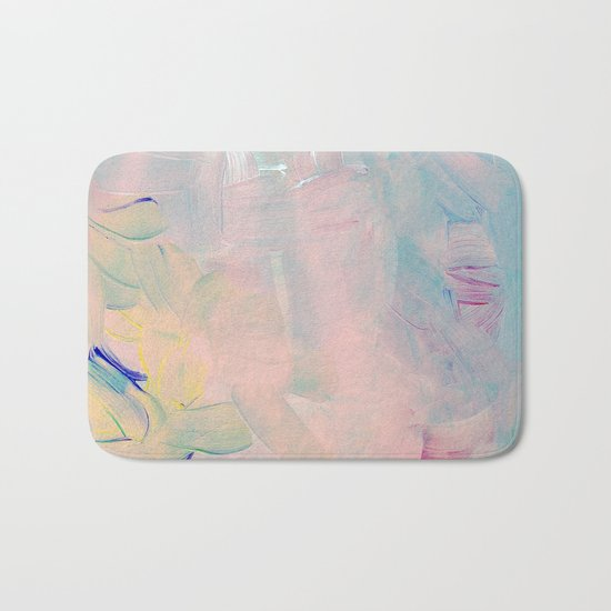 Abstract paint in pink Bath Mat