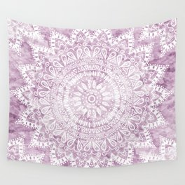 BOHEMIAN FLOWER MANDALA IN PINK Wall Tapestry