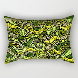 Snakes green plants plant pattern Rectangular Pillow