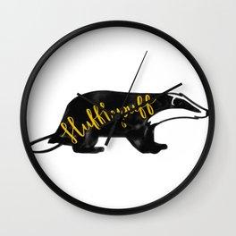 Hufflepuff Badger Wall Clock