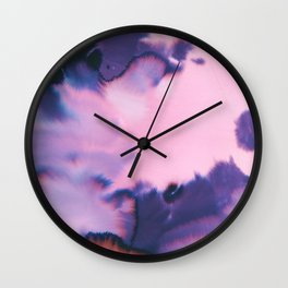 water color wave III collab Dylan Silva Wall Clock
