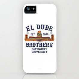 Peep Show - El Dude Brothers iPhone Case