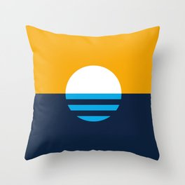 The People's Flag of Milwaukee Throw Pillow