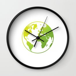 No Other Planet Green Environmental Protection Wall Clock