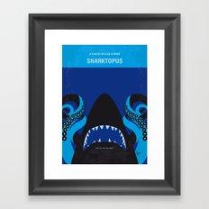 No485 My Sharktopus minimal movie poster Framed Art Print