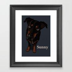 Sunny (blue) Framed Art Print