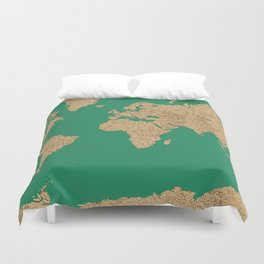 Sand balls - Organic World Map Series Duvet Cover