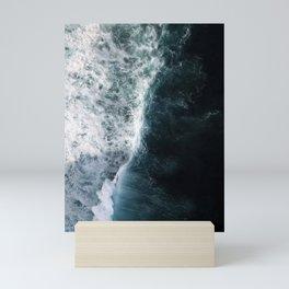 Oceanscape - White and Blue Mini Art Print
