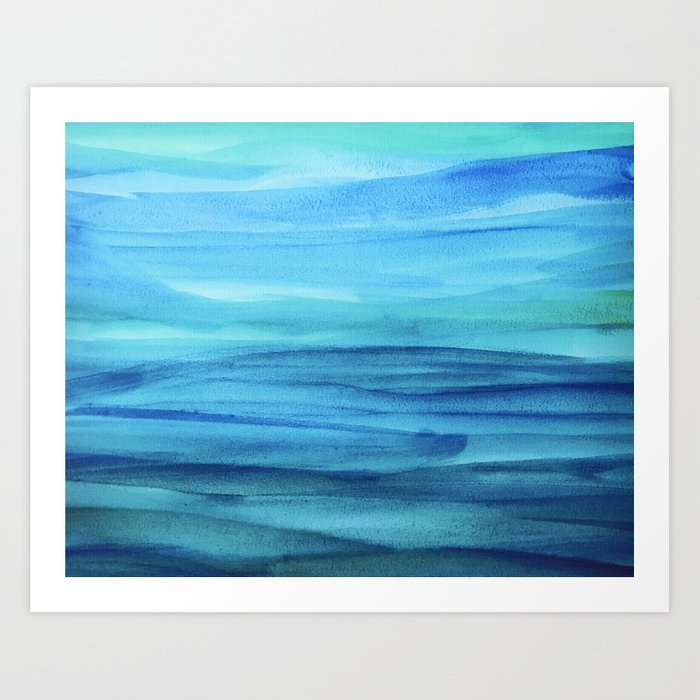 Cerulean Sea Art Print