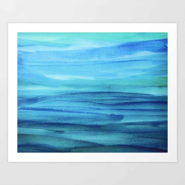 Cerulean Sea Art Print
