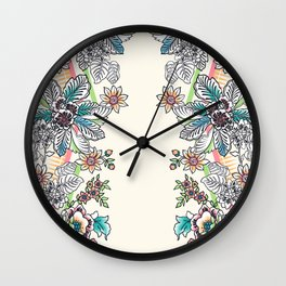 Wire Floral Wall Clock