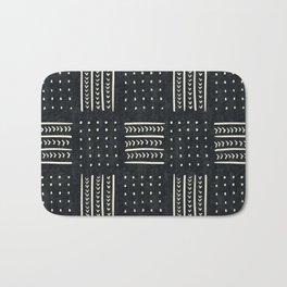 Mud cloth in black and white Bath Mat