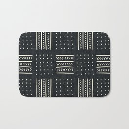 Mud cloth in black and white Bath Mat