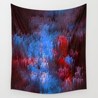 drums Wall Tapestries featuring Blue Dance by Alix Rumble