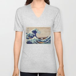 The Great Wave Off Kanagawa Unisex V-Neck