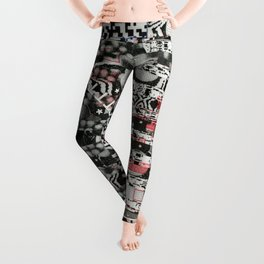 I Blame The Pollen (P/D3 Glitch Collage Studies) Leggings