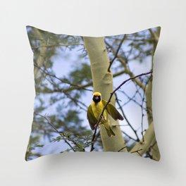 tree bird Throw Pillow