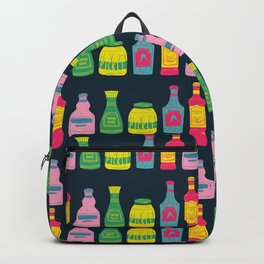 colorful bottle and can pattern Backpack