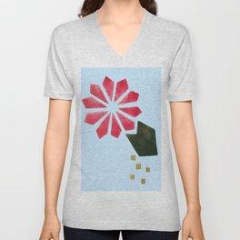 Flowers Can Be Buoyant Unisex V-Neck