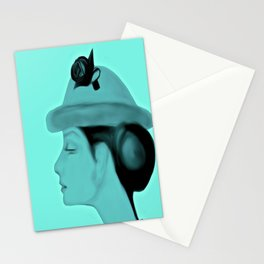 Audrey Blue Stationery Cards