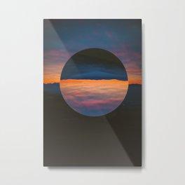 Black Sun Metal Print