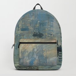 Claude Monet – Impression soleil levant – impression sunrise Backpack