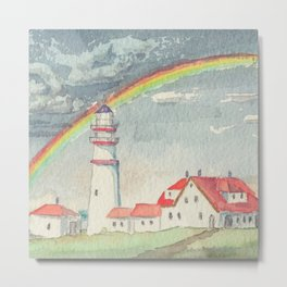 Maine Lighthouse Metal Print