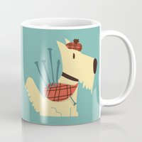 terrier Mugs featuring Scottish  Terrier - My Pet by Picomodi