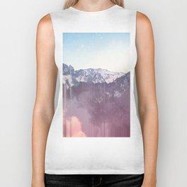 Glitched Mountains Biker Tank