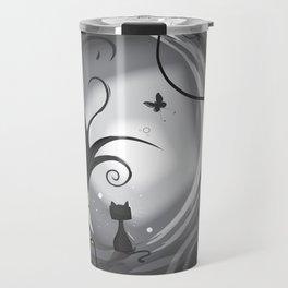 Cat on the moon Travel Mug