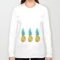 pineapples Long Sleeve T-shirts featuring Pineapples by Yilan