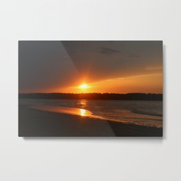 Sunset Over The Waterway Metal Print