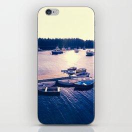 Winter Harbor Sundown iPhone Skin