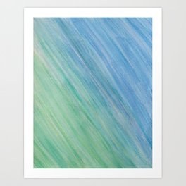Greens and Blue Art Print