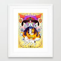 okami Framed Art Prints featuring Okami by Collectif PinUp!