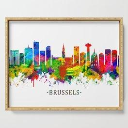 Brussels Belgium Skyline Serving Tray