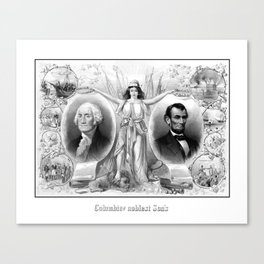 Presidents Washington and Lincoln Canvas Print