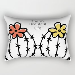 Thorny Beautiful Life Rectangular Pillow